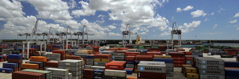 Garden City Terminal Container Yard in Savannah